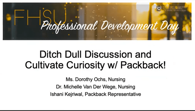 Ditching Dull Discussion: Cultivating Creating with Packback