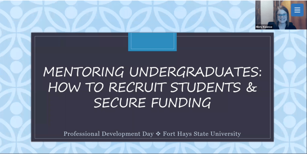 Mentoring Undergraduates in Research: How to Recruit Students and Secure Funding