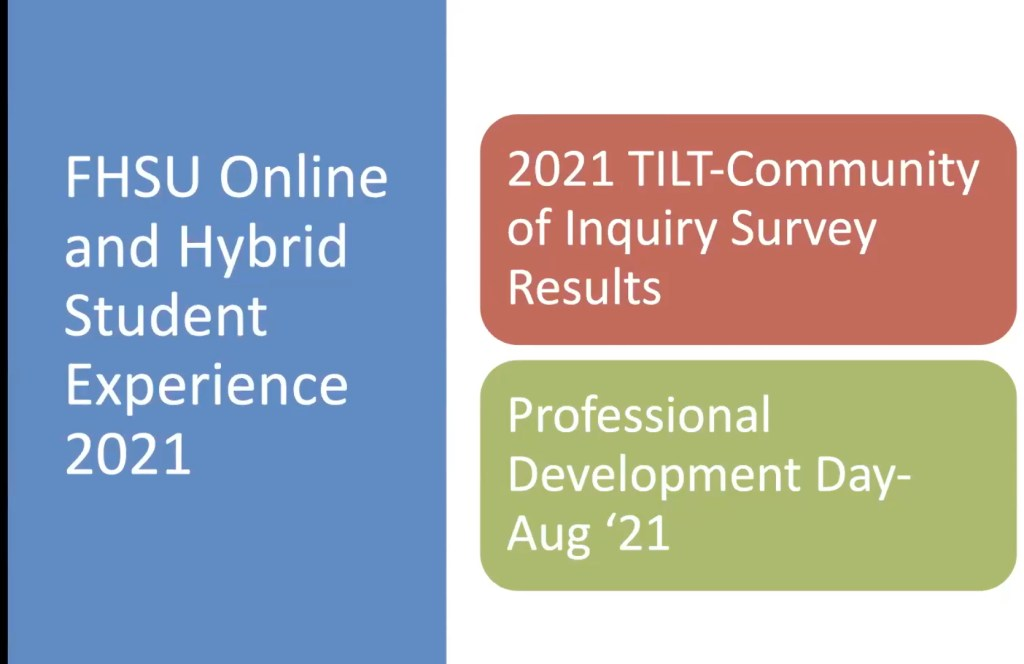 2021 Student Experience Survey Report