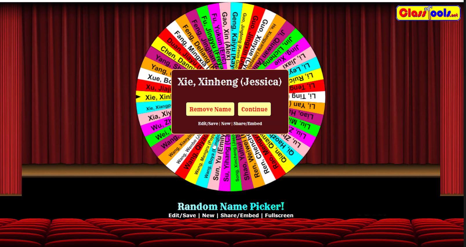 wheel spinning_random student name