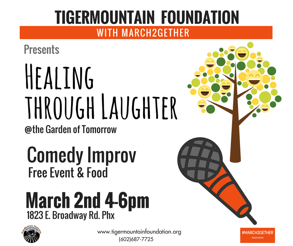Healing Through Laughter event at the Garden Tomorrow