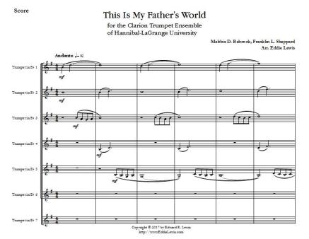 This Is My Fahters World - Score - Page 1