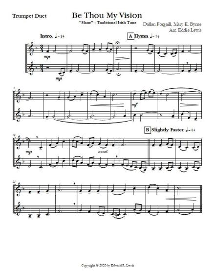 Be Thou My Vision trumpet sheet music sample pdf