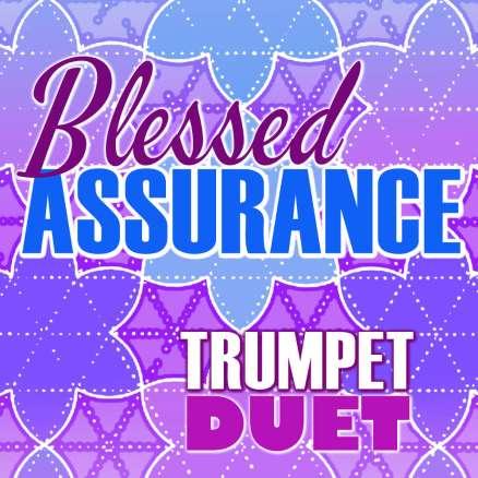 Blessed Assurance Trumpet Hymn Duet Sheet Music PDF Cover Art