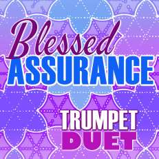 Blessed Assurance Trumpet Hymn Duet Sheet Music PDF Cover Art