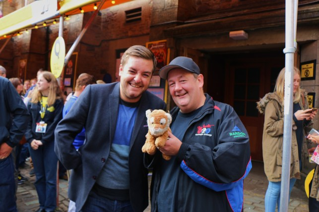 Johnny Vegas and Alex Brooker