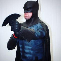 Aaron Henderson-Smith with Tiger Stone FX Batman The Dark Knight Returns cowl