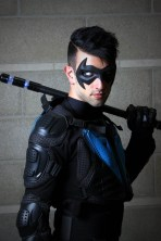 Gotham Gray with Tiger Stone FX New 52 Nightwing mask - photo by Sonny Meas Photos