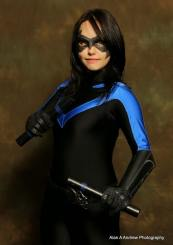 Morning Girl Cosplay with Tiger Stone FX nightwing mask