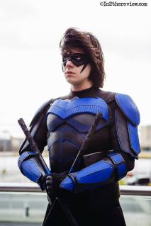 Owain Grayson Cosplay with Comic New 52 Nightwing mask by Tiger Stone FX - photo by in2thereview