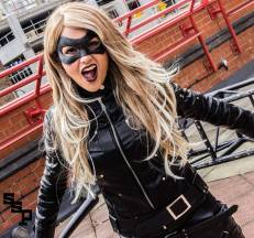 Raven Rose with Tiger Stone FX Black Canary mask