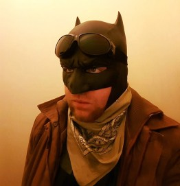 The Dark Knight cosplay with Tiger Stone FX Batman V Superman Dawn of Justice cowl