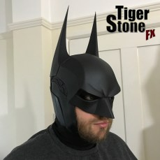 Batman Arkham Knight cowl - worn - by Tiger Stone FX