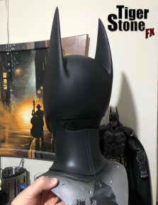 Batgirl cowl (back) almost finished - By Tiger Stone FX