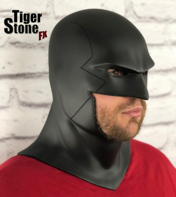 Red Robin cowl - earless comic cowl Space Ghost Midnighter etc made by Tiger Stone FX (side - without white eyes)