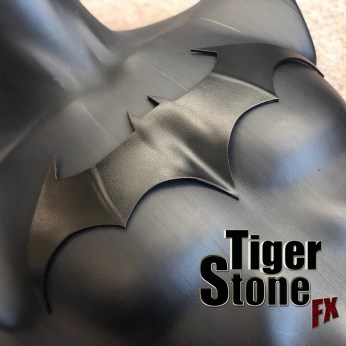 Batman Justice League War animated movies inspired chest emblem symbol logo (shaped) -- made by Tiger Stone FX