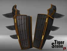 Batman Ninja gauntlets - finished sculpt (back 2) - made by Tiger Stone FX