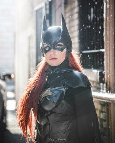 Arkham Knight Batgirl cowl for your cosplay by Tiger Stone FX worn by WhoaNerdAlert (photo by Kryptic Frames) - (customer photos)