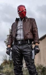 Jensen Ackles (Supernatural) wearing a Tiger Stone FX Red Hood helmet (front shot)- Halloween 2018