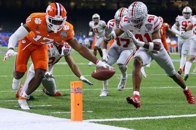 Cornell Powell touchdown (Jonathan Bachman for the Allstate Sugar Bowl)