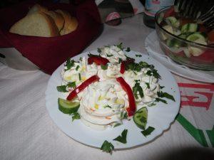 Albanian yoghurt sauce dish Berat