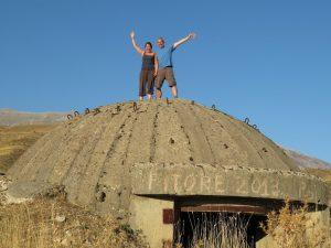 Tiggerbird bunker pose Albania