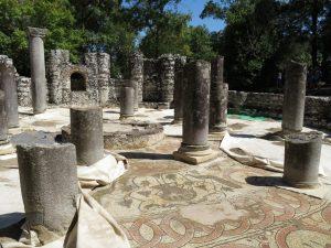 Baptistery Butrint mosaic view