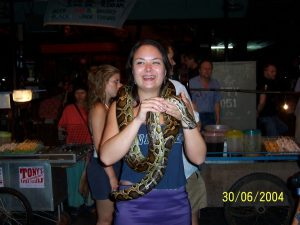 snake encounter Pattaya Thailand