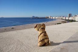 Copacabana Beach, Rio, Brasil: View from hotel balcony