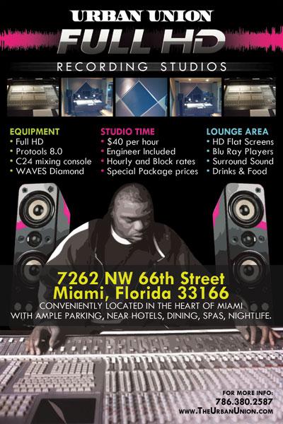 Urban Union Recording Studio In Miami Tight Designs