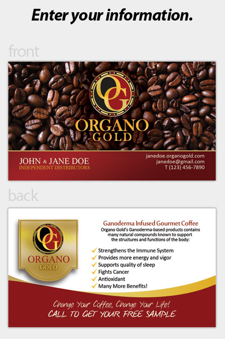Organo gold business cards colourmoves