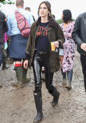 attends day 1 of Glastonbury Festival on June 24, 2016 in Glastonbury, England.