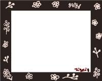 フリー素材:フレーム素材。<br> 北欧風ガーリーで大人かわいい<br> 花のイラスト素材。