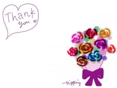 フリー素材:フレーム素材(640pix)<br>  ガーリーな花束のイラスト素材。