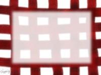 フリー素材:ガーリーな赤のチェックの手描きクレヨン風イラスト素材(640pix)