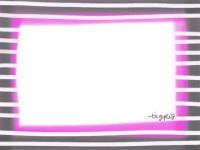 フリー素材:メルヘンなピンクとグレーのしましま(ストライプ)のフレーム素材(640pix)