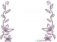 フリー素材:フレーム;ガーリーな南国風の花のイラスト素材