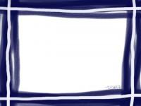 フリー素材:フレーム;シンプルな紺色のイラスト素材