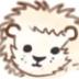 フリー素材:アイコン・メニュー;ガーリーなライオンのイラスト素材