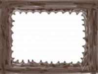 フリー素材:フレーム;ガーリーで大人可愛いポップな茶色のフレーム素材