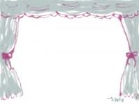 webデザイン素材:フレーム;ネットショップの素材に使えるカーテンのフリー素材