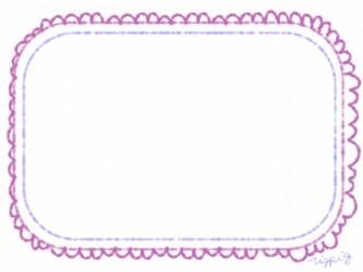 webデザイン:フレーム素材;ピンクのレースのガーリーなフリー素材