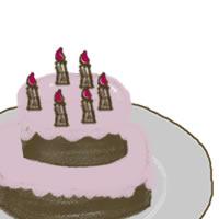 フリー素材:アイコン(twitter,mixi);ガーリーなケーキのイラスト