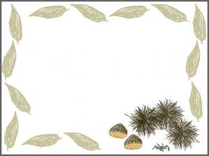 フリー素材:フレーム:ガーリーな栗のイラストのwebデザイン素材