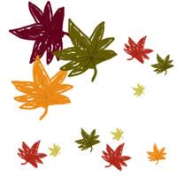 フリー素材:twitterアイコン・メニュー;秋のもみじのwebデザイン素材