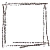 フリー素材:バナー・アイコン:200pix;シンプルな茶色の四角の飾り枠のwebデザイン素材