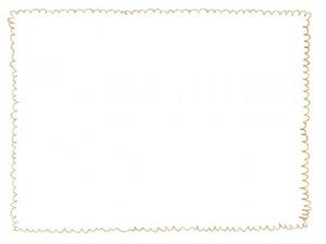 フリー素材:フレーム:640×480pix;からし色(黄色)のもこもこのラインのwebデザイン素材
