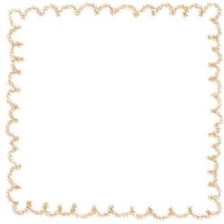 フリー素材:スクエアバナー・アイコン:250pix;からし色(黄色)のもこもこのラインの枠のwebデザイン素材