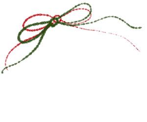 フリー素材:手描き文字:300×200pix;大人かわいいリボンのクリスマスデザイン用webデザイン素材