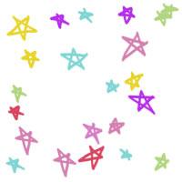 フリー素材:壁紙・背景;ポップで大人かわいい星いっぱいのイラストのwebデザイン素材